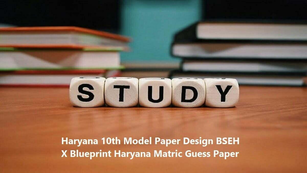 Haryana 10th Model Paper Design 2020 BSEH X Blueprint 2020 Haryana Matric Guess Paper 2020
